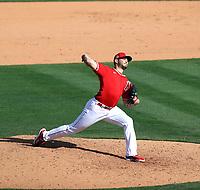 Jake Faria - Los Angeles Angels 2021 spring training (Bill Mitchell)