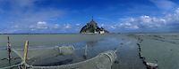 Europe/France/Normandie/Basse-Normndie/50/Manche/Mont Saint-Michel : Le mont et sa baie