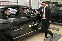 Vertu Honda dealership Nottingham. Pictured from left are Anthony Curry, Mark Whitehead and Chris Duggen