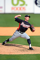 Atlanta Braves pitcher J.R. Graham during a Spring Training game against the Detroit Tigers at Joker Marchant Stadium on February 27, 2013 in Lakeland, Florida.  Atlanta defeated Detroit 5-3.  (Mike Janes/Four Seam Images)