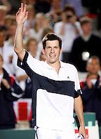 6-4-07, England, Birmingham, Tennis, Daviscup England-Netherlands,   Henman wins