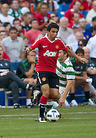 July 16, 2010 Fabio Da Silva No. 21of Manchester United during an international friendly between Manchester United and Celtic FC at the Rogers Centre in Toronto.