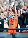 15/05/2010   Copyright  Pic : James Stewart.sct_js010_ross_county_v_dundee_utd  .:: DAVID GOODWILLIE LIFT THE CUP AFTER HE OPENED THE SCORING  ::  .James Stewart Photography 19 Carronlea Drive, Falkirk. FK2 8DN      Vat Reg No. 607 6932 25.Telephone      : +44 (0)1324 570291 .Mobile              : +44 (0)7721 416997.E-mail  :  jim@jspa.co.uk.If you require further information then contact Jim Stewart on any of the numbers above.........
