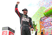 Monster Energy NASCAR Cup Series<br /> Tales of the Turtles 400<br /> Chicagoland Speedway, Joliet, IL USA<br /> Sunday 17 September 2017<br /> Martin Truex Jr, Furniture Row Racing, Furniture Row/Denver Mattress Toyota Camry celebrates in victory lane <br /> World Copyright: Russell LaBounty<br /> LAT Images
