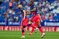 12th September 2021: Barcelona, Spain:  Yannick Carrasco of Atletico de Madrid celebrates his goal for 1-1 in the 79th minute during the Liga match between RCD Espanyol and Atletico de Madrid at RCDE Stadium in Cornella, Spain.