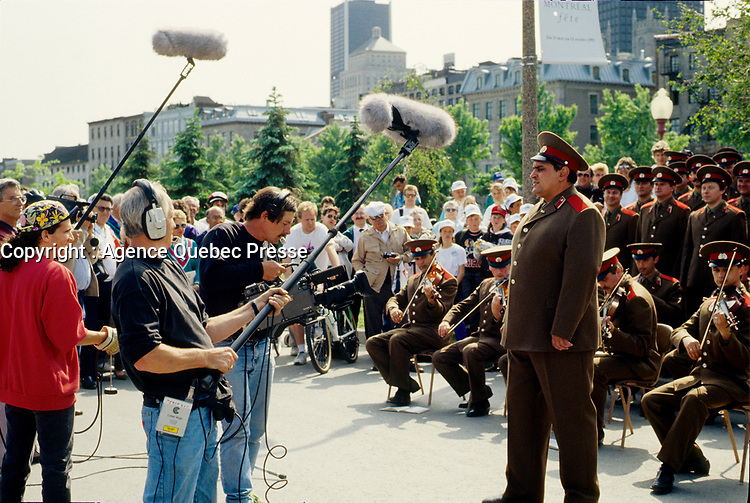 Montreal (QC) CANADA - 1997 File Photo - Russian Red Army  choir