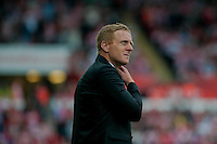 Saturday 20th September 2014  Pictured:  Garry Monk, Manager of Swansea City<br /> Re: Barclays Premier League Swansea City v Southampton  at the Liberty Stadium, Swansea, Wales,UK