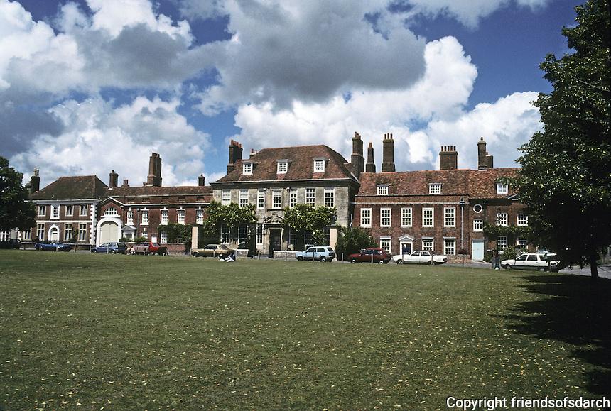 Salisbury: North Range, Choristors' Green, Cathedral Close. Photo '90.