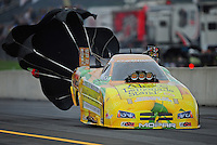 Oct. 1, 2011; Mohnton, PA, USA: NHRA funny car driver Johnny Gray during qualifying for the Auto Plus Nationals at Maple Grove Raceway. Mandatory Credit: Mark J. Rebilas-
