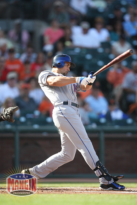 SAN FRANCISCO - MAY 17:  Carlos Beltran of the New York Mets bats during the game against the San Francisco Giants at AT&T Park in San Francisco, California on Sunday, May 17, 2009. Photo by Brad Mangin