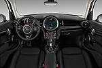Stock photo of straight dashboard view of 2019 MINI Hardtop-4-Door Cooper-S 5 Door Hatchback Dashboard