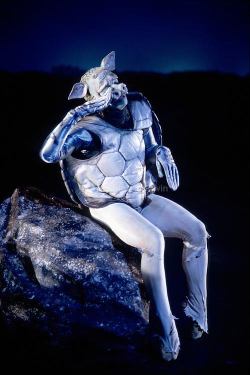 Derek Deane's production of Alice In Wonderland for English National Ballet. The turtle.