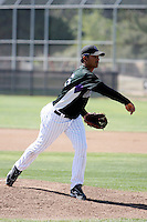 Jhoulys Chacin - Colorado Rockies - 2009 spring training.Photo by:  Bill Mitchell/Four Seam Images