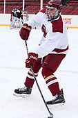 Luke McInnis (BC - 3) - The Boston College Eagles practiced at Fenway on Friday, January 6, 2017, in Boston, Massachusetts.