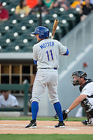 Taylor Motter (11) of the Durham Bulls at bat against the Charlotte Knights at BB&T BallPark on July 22, 2015 in Charlotte, North Carolina.  The Knights defeated the Bulls 6-4.  (Brian Westerholt/Four Seam Images)