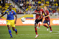 DaMarcus Beasley (16)  of the United States. The men's national team of the United States (USA) was defeated by Ecuador (ECU) 1-0 during an international friendly at Red Bull Arena in Harrison, NJ, on October 11, 2011.