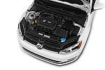Car Stock 2017 Volkswagen Golf S 5 Door Hatchback Engine  high angle detail view
