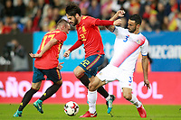 Spain's Isco Alarcon (c) and Iago Aspas (l) and Costa Rica's Giancarlo Gonzalez during international friendly match. November 11,2017.(ALTERPHOTOS/Acero) /NortePhoto.com