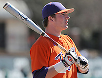Outfielder Kyle Parker (11) of the Clemson Tigers in a game against the Wright State Raiders Saturday, Feb. 27, 2011, at Doug Kingsmore Stadium in Clemson, S.C. Parker was drafted by the Colorado Rockies with the No. 26 overall pick in the first round of the 2010 player draft. Photo by: Tom Priddy/Four Seam Images