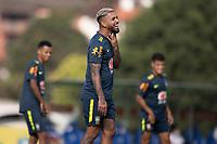 7th October 2020; Granja Comary, Teresopolis, Rio de Janeiro, Brazil; Qatar 2022 qualifiers; Douglas Luiz of Brazil during training session