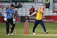 Jimm Neesham in bowling action for Essex during Essex Eagles vs Sussex Sharks, Vitality Blast T20 Cricket at The Cloudfm County Ground on 15th June 2021