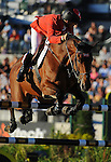 8 October 2010: Pius Schwizer (SUI) and Carlina compete during the Show Jumping Individual Championship Qualifiers in the World Equestrian Games in Lexington, Kentucky