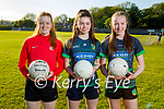 Churchill juvenile ladies doing their training in Churchill on Friday. L to r: Laurel Mason, Jessica McGibney and Lily May O'Gara.
