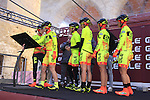 Ale Cipollini team at sign on before start the 2015 Strade Bianche Women Elite cycle race 103km over the white gravel roads from San Gimignano to Siena, Tuscany, Italy. 8th March 2015<br /> Photo: Eoin Clarke www.newsfile.ie