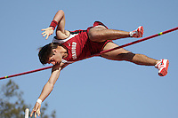 5 April 2008: Casey Roche during the Stanford Invitational at the Cobb Track and Angell Field in Stanford, CA.