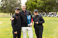 STANFORD, CA - APRIL 25: Justin Hooker, Katie Woodruff at Stanford Golf Course on April 25, 2021 in Stanford, California.