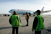August 19 2004, Dorval - Montreal (Quebec) CANADA<br /> Celine Dion sign for Air Canada's employees at Pierre E. Trudeau (YUL) Airport, August 19 2004.<br /> Photo by Yves Provencher / Images Distribution