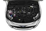 Car Stock 2019 Toyota Corolla-TS-hybrid Style 5 Door Wagon Engine  high angle detail view