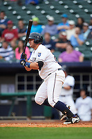 NW Arkansas Naturals first baseman Balbino Fuenmayor (28) at bat during a game against the San Antonio Missions on May 30, 2015 at Arvest Ballpark in Springdale, Arkansas.  San Antonio defeated NW Arkansas 5-1.  (Mike Janes/Four Seam Images)