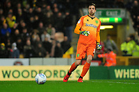 Tim Krul of Norwich City in action during the Sky Bet Championship match between Norwich City and Swansea City at Carrow Road in Norwich, England, UK. Friday 08 March 2019