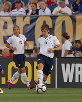 US defender Amy LePeilbet (6) passes the ball. The US Women's national team beat Sweden, 3-0, at Rentschler Field on July 17, 2010.
