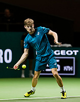 ABN AMRO World Tennis Tournament, 13 Februari, 2018, Tennis, Ahoy, Rotterdam, The Netherlands, David Goffin (BEL)<br /> <br /> Photo: www.tennisimages.com