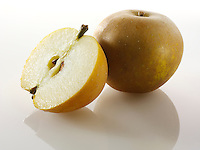 Fresh Russet Apple half