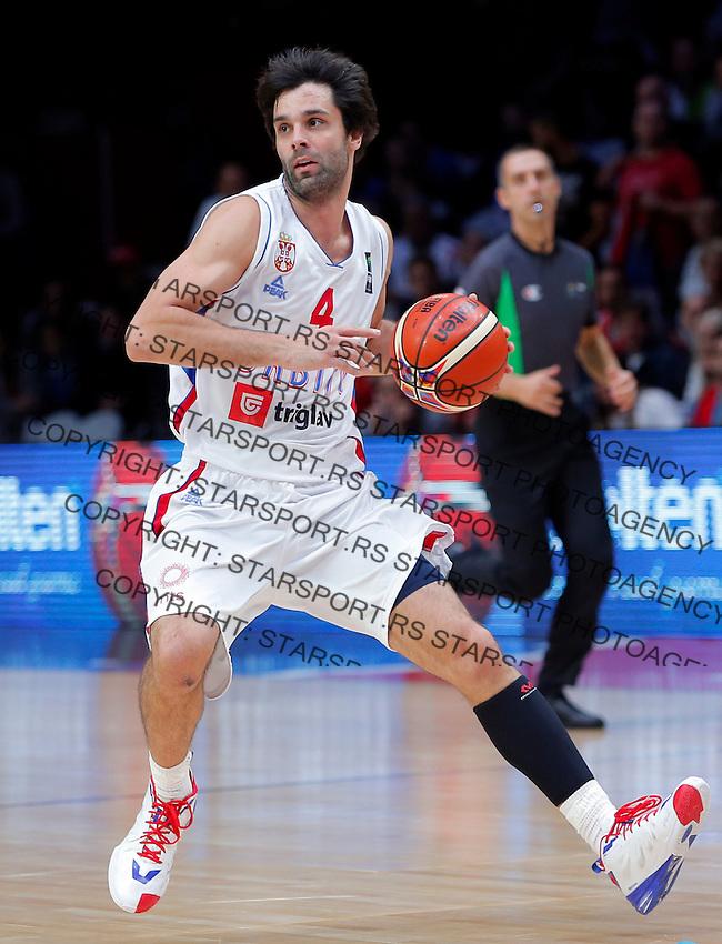 Milos Teodosic European basketball championship, round of 16 basketball match between Serbia and Finland on September 13, 2015 in Lille, France  (credit image & photo: Pedja Milosavljevic / STARSPORT)