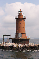The West Bank Lighthouse located in Lower New York Bay