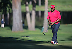 Former NFL player Jerome Bettis plays in the final round of the American Century Championship at Edgewood Tahoe Golf Course in Stateline, Nev., on Sunday, July 19, 2015. <br /> Photo by Cathleen Allison