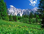 Italy, Veneto, Dolomites, near San Vito di Cadore: Croda Marcora (3.154 m)