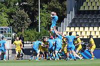 2nd May 2021; Stade Marcel-Deflandre, La Rochelle, France. European Champions Cup Rugby La Rochelle versus  Leinster Semi-Final;  RHYS RUDDOCK of Leinster takes the lineout ball