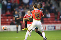 Lucas Akins of Stevenage grapples with Paul Downing of Walsall before being sent off<br />  - Walsall v Stevenage - Sky Bet League One - Banks's Stadium, Walsall - 19th October 2013. <br /> © Kevin Coleman 2013