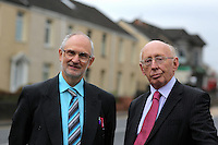 Pictured L-R: John Warman and David Edwards Monday 24 October 2016<br /> Re: Communities First funding at the MCC Melin Advice Centre in Neath, Wales, UK.