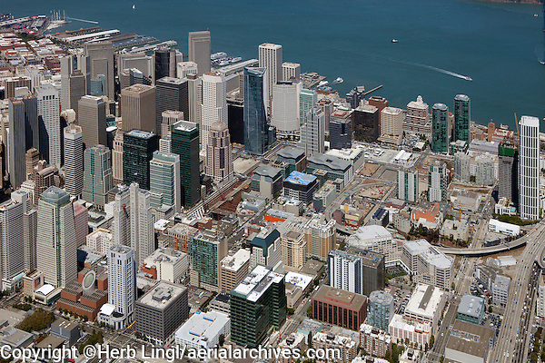 aerial photograph South of Market Street Transbay Terminal Center San Francisco, California