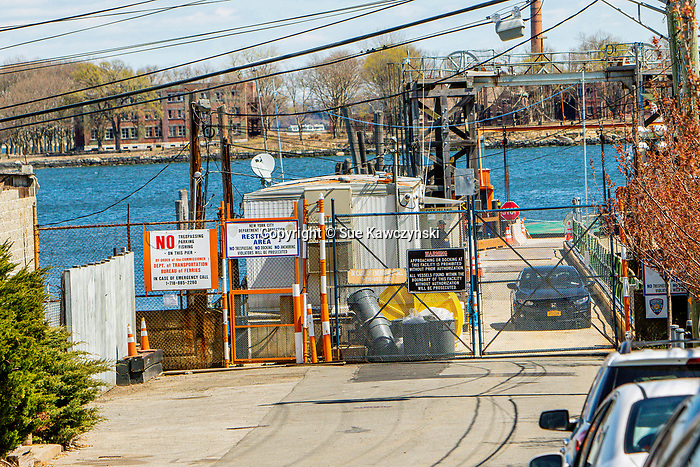 APRIL 14, 2020: Hart Island ferry dock, located on City Island, in The Bronx.  Hart Island is New York City's Potters Field, were unclaimed bodies, including those COVID 19 victims, go to be buried. The Bronx,  NY.  Sue Kawczynski-Eclipse Sportswire