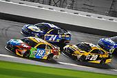 2017 NASCAR Monster Energy Cup - Can-Am Duels<br /> Daytona International Speedway, Daytona Beach, FL USA<br /> Thursday 23 February 2017<br /> Kyle Busch, M&M's Toyota Camry, Chase Elliott and Matt Kenseth, DeWalt Toyota Camry<br /> World Copyright: Nigel Kinrade/LAT Images<br /> ref: Digital Image 17DAY2nk07041