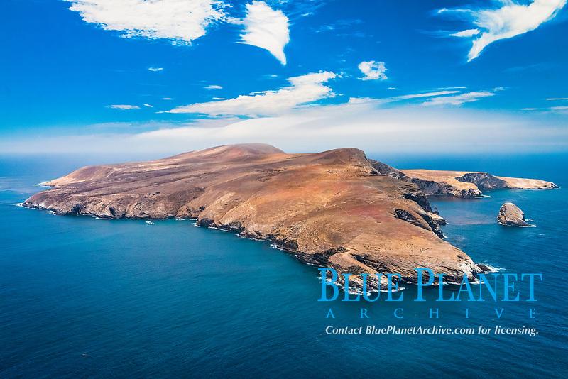 Santa Barbara Island, aerial photograph, Channel Islands National Park, California, USA, Pacific Ocean