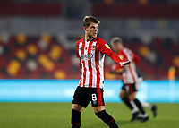 7th November 2020; Brentford Community Stadium, London, England; English Football League Championship Football, Brentford FC versus Middlesbrough; Mathias Jensen of Brentford
