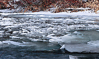 Ice jams on the Tobacco River in Montana. There is the most incredibly lovely sound as the ice breaks free and starts to move down river.